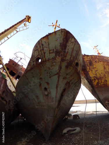 Keuken foto achterwand Schip rusty ship
