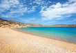 Amazing Tris Klisies Bay in Ios Island, Cyclades, Greece. Spectacular bay for relaxing and enjoying the quite, beautiful nature of Ios Island