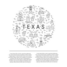 Texas Outline Icons