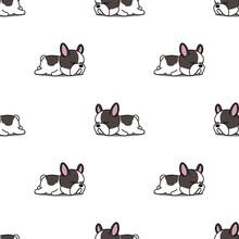 Cute French Bulldog Puppy Slee...