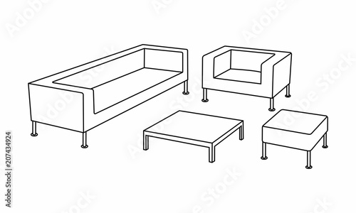 Phenomenal Set Of Modern Sofa Icon Design For Living Room Elements Cjindustries Chair Design For Home Cjindustriesco