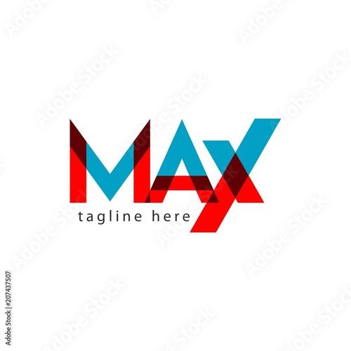 Max Logo Letter Vector Template Design Illustration Wallpaper Mural