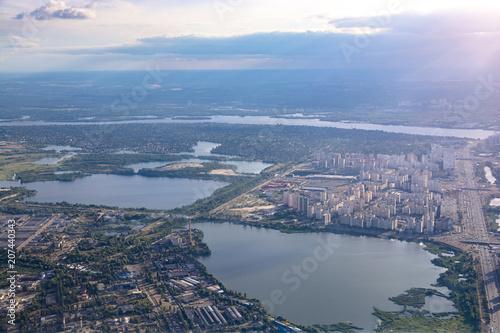 Foto op Plexiglas Kiev Residential area of Kiev view from above