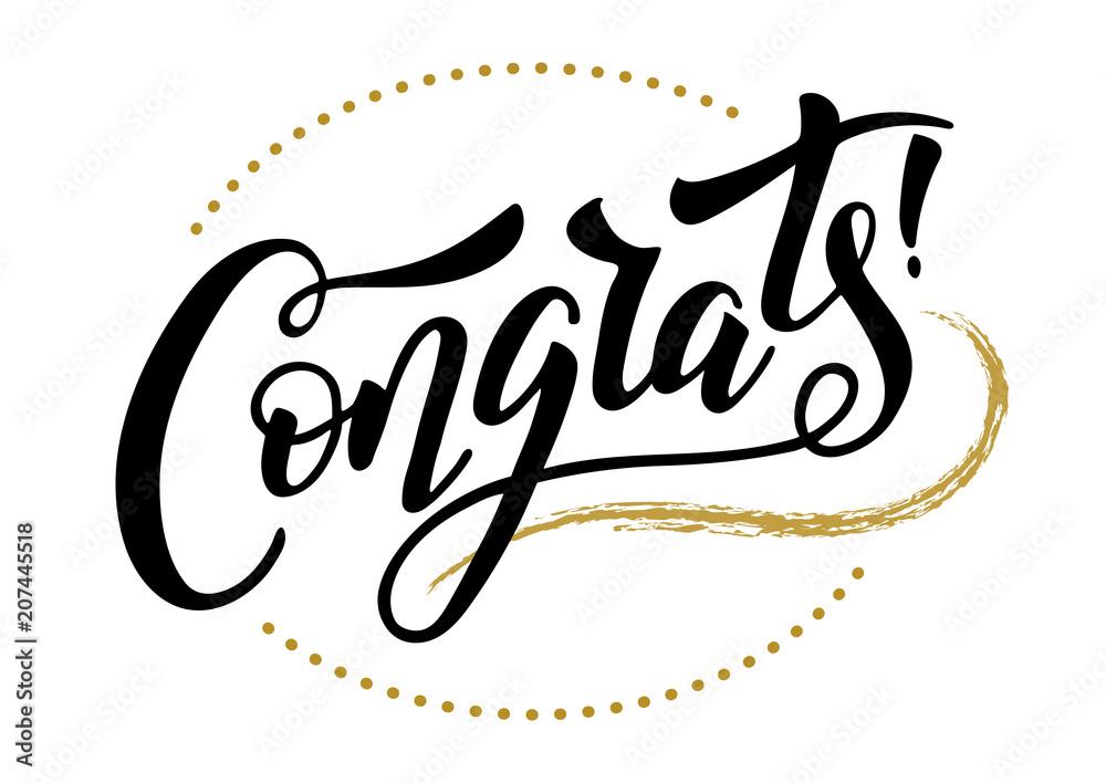Valokuva  congrats hand lettering