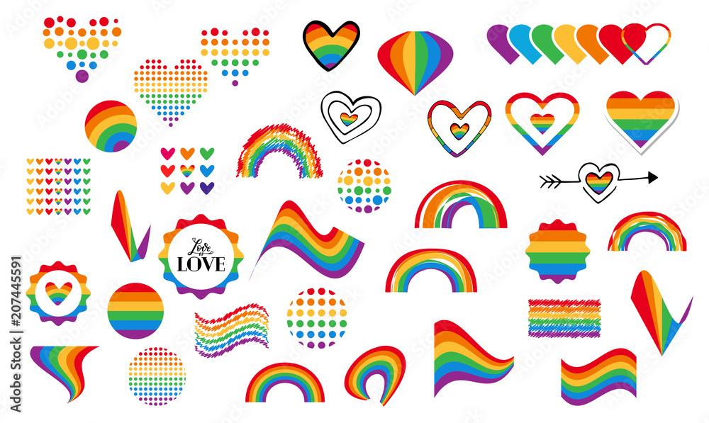 Fototapeta gay rainbow symbols
