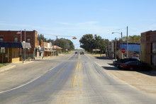 Main Street In Small Rural Tow...