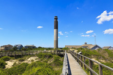 Oak Island Lighthouse Is Located In Caswell Beach, North Carolina, Built In 1958.