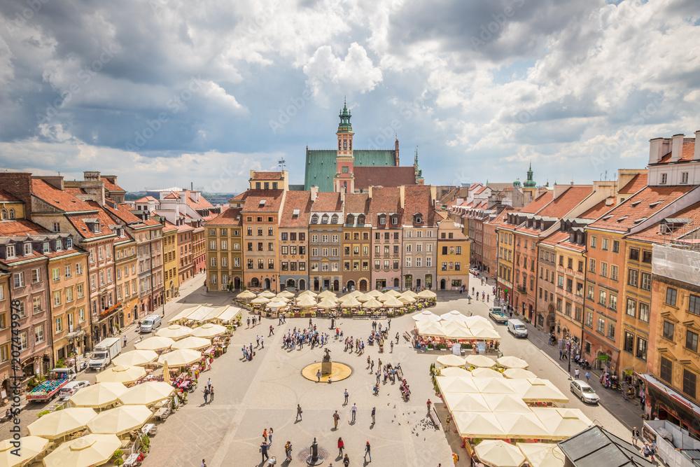 Fototapety, obrazy: Ładny widok na Rynek Starego Miasta w Warszawie