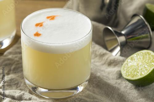 Homemade Pisco Sour Cocktail Canvas Print