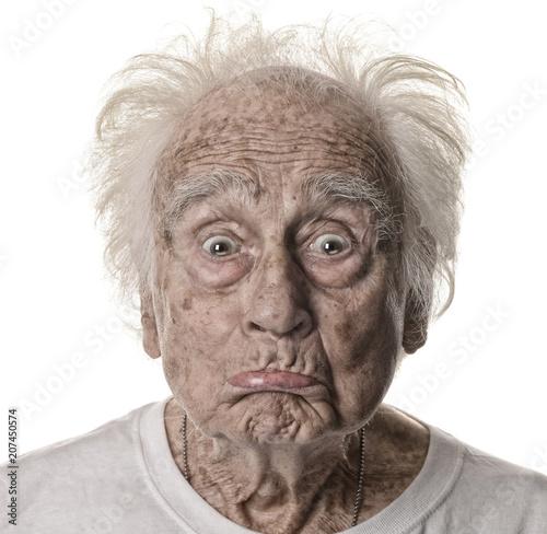 Photo Senior man On White