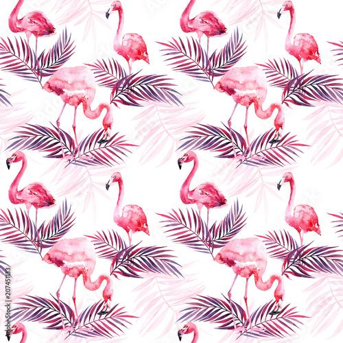 akwarela-bezszwowe-wzor-z-flamingo-i-kolorowe-tropikalne-liscie