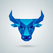 Polygonal Vector Bull Head