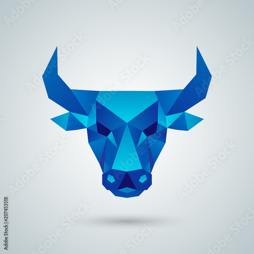 Foto Polygonal vector bull head