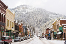 Winter In Downtown Wallace Idaho
