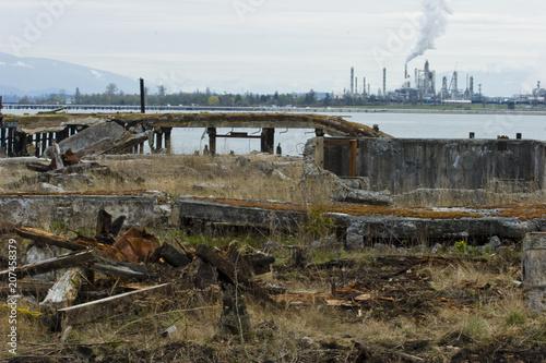Industrial Wasteland Canvas Print