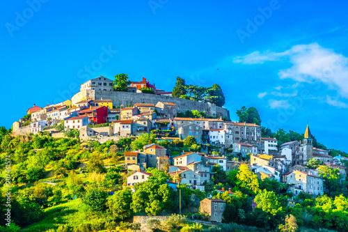 Motovun Istria Croatia. / Scenic view at old picturesque medieval town Motovun in Croatia, Istria region.