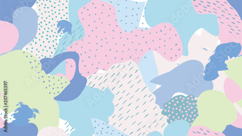 Abstract seamless pattern Blots, dots painted background - 207465397