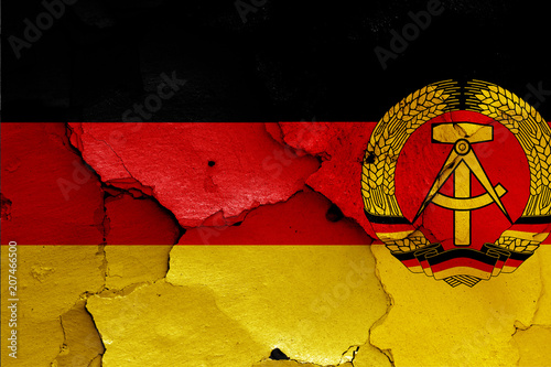 Fotomural  flags of West Germany and East Germany