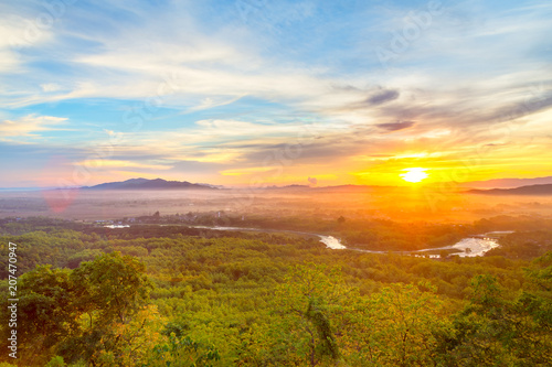 Fototapety, obrazy: mountain landscape and fog