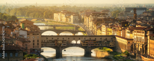 Foto op Canvas Florence Ponte Vecchio Bridge in Florence - Italy