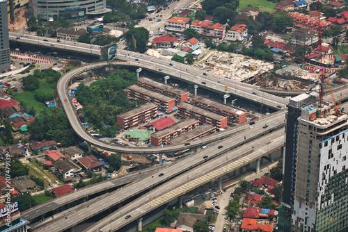 Freeway interchange in Kuala Lumpur, Malaysia Poster