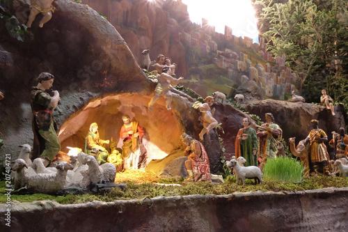 Fotografie, Obraz  Nativity Scene, Christmas creche in Zagreb cathedral