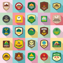 Scout Badge Emblem Stamp Icons...