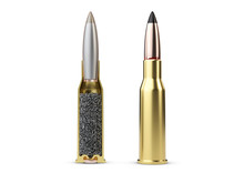 Structure Of Bullet On White Background, 3d Illustration