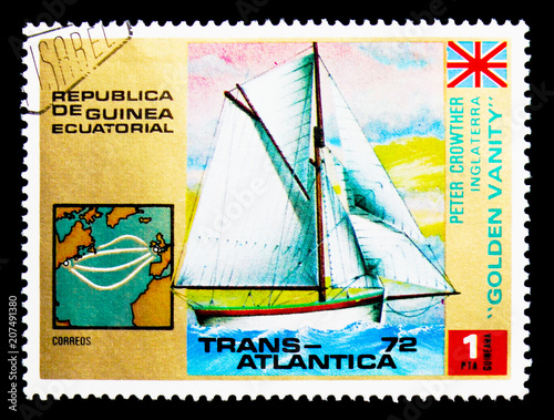 Fotografía  Golden Vanity, Trans Atlantica sailing regatta serie, circa 1973