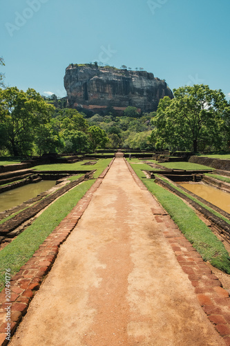 Canvas Print Gardens of Lions Rock, Sigiriya, Sri Lanka