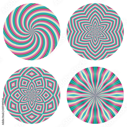 abstract circle backgrounds colorful geometric round patterns
