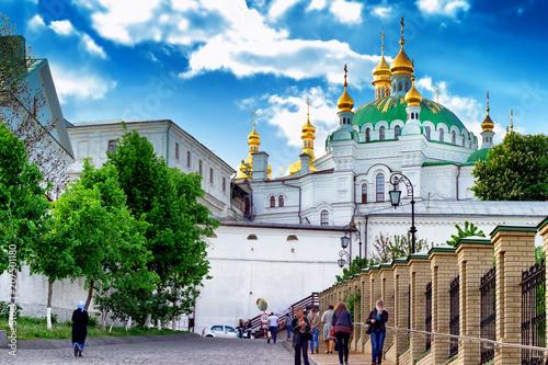 Foto op Plexiglas Kiev View of Kiev Pechersk Lavra church. Old architecture and landmark in Kiev, Ukraine