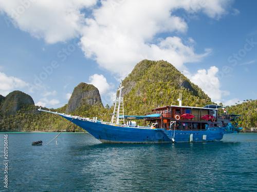 Old boat, Raja Ampat, Indonesia.