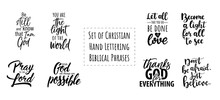 Set Of Christian Hand Letterin...