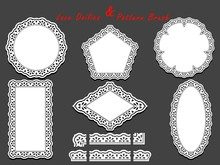 Set Of Delicate White Lace Pat...