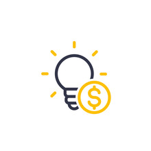 Funding Of The New Product, Idea, Seed Capital Linear Icon