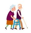 Grandparents Banner Grandpa and Grandma Isolated