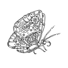 Mechanical Butterfly Animal En...