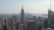 Establishing shot of Skyline view of New York City.