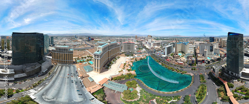 AERIAL VIEW OF LAS VEGAS, NEVADA. DRONE SHOT.