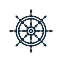 Ship Wheel Icon Design