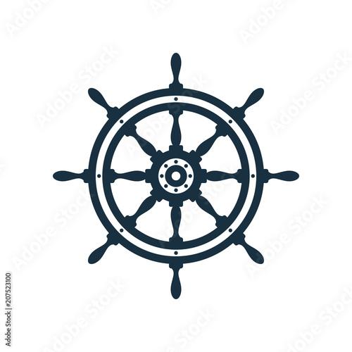 Photo  Ship wheel icon design