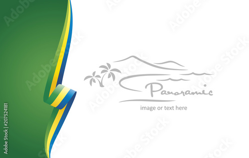 Fotografie, Obraz  Gabon abstract flag brochure cover poster background vector