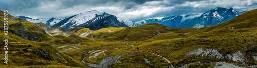 panoramic view of the alpan mountains of Cascade Saddle, New Zealand Fototapete
