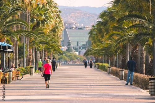 Promenade alley in Limassol, Cyprus