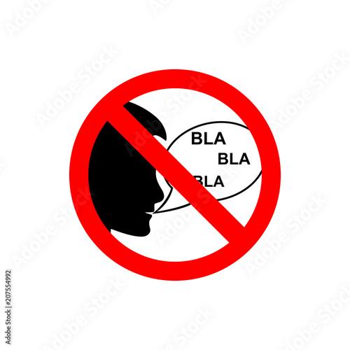 Fotografie, Obraz  Stop talking vector sign.