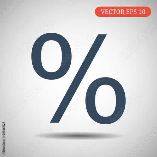 Fotografía  Percent icon. Vector illustration.Eps 10.