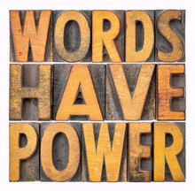 Words Have Power Message In Wo...