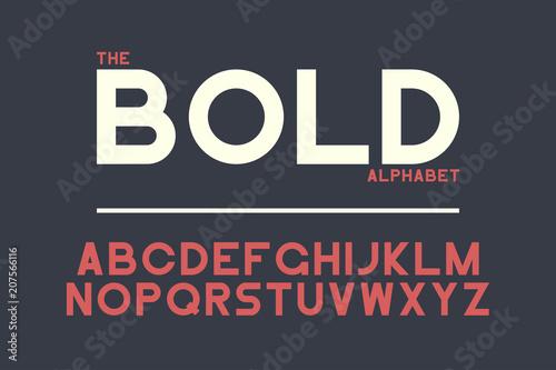 Fotografía  Bold sans-serif font design