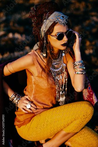 Poster Gypsy stylish ethnic fashion